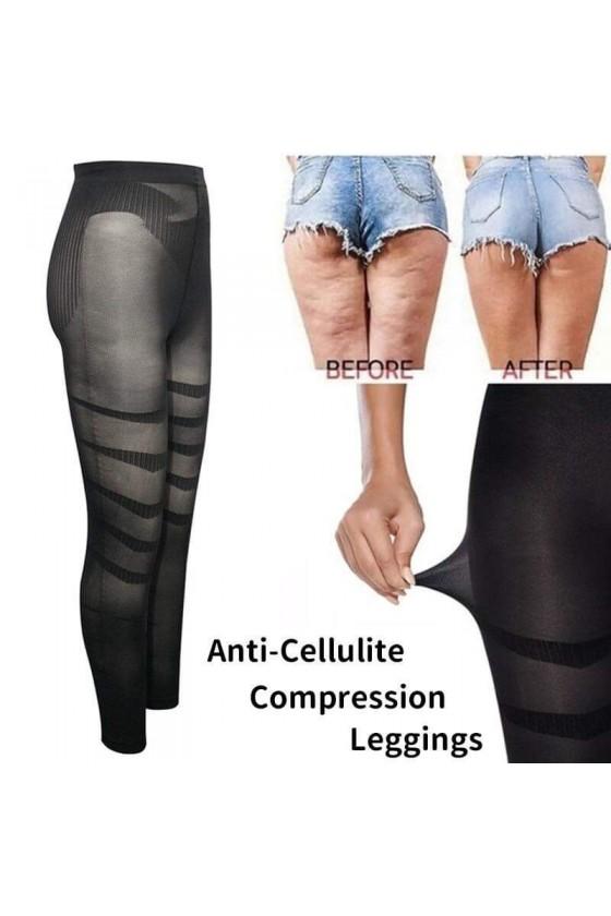 Legging Amincissant Anti-cellulite Avec Gaine Minceur Noir